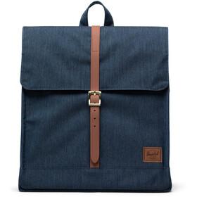 Herschel City Mid-Volume Backpack indigo denim crosshatch